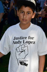 Another Andy Lopez t-shirt.