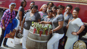 "Women from the Sistahs on the Reading Edge Book Club, who said they were booted off a Napa Valley Wine Train for ""laughing too loud."""