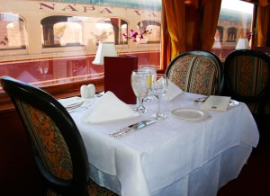 The Gourmet Express. A 1917 Pullman car, where black porters met your every need.