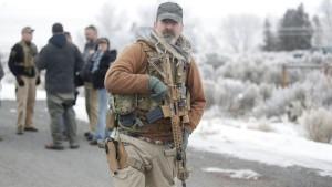 Armed occupier in Oregon. AP photo