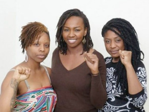 Patrisse Cullors, Opal Tometi (center) and Alicia Garza (right)  courtesy of madamenoire.com